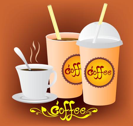 vecter: Coffee cup vecter set