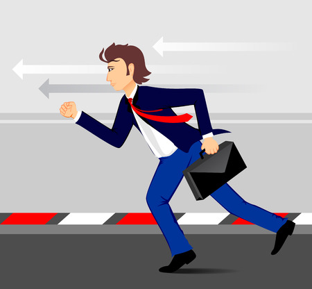 targeted: business man run to targeted Illustration