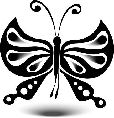 butterfly: silhouette butterfly design