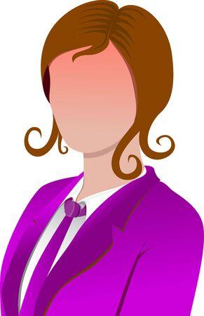 zakelijke vrouw: business woman vector icon