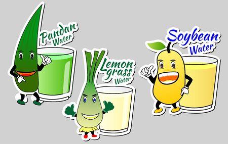 logo: vegettable drink paper logo sign
