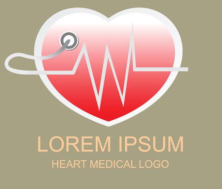 healthier: Heart medical logo and sign Illustration