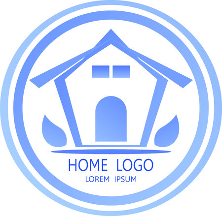 huis logo: home logo icon abstract