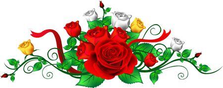 rose floral frame