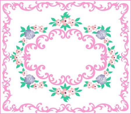 Marco Del Vector De Marco Floral, Rosa Para La Boda, Flores Enmarcan ...