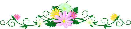 flower frame floral and leaves abstract design for wedding