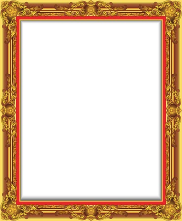 luis: Gold Vintage Frame. Decorative Vector Frame with Place for Text, Picture or Design, luis frame design