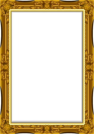 Gold Vintage Frame. Decorative Vector Frame with Place for Text, Picture or Design, luis frame design