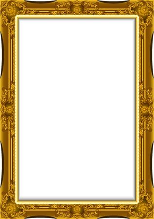 espejo: Vintage marco de oro. Vector del marco decorativo con lugar para el texto, imagen o dise�o, dise�o del marco luis Vectores