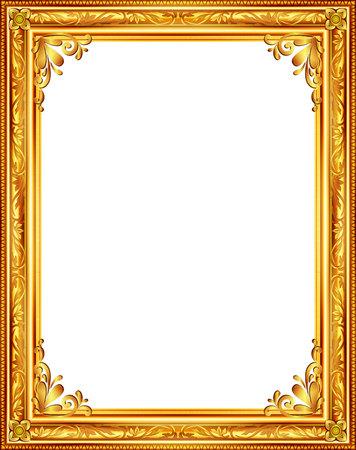 marco dorado barroco louis marco del oro del cuadro resumen de diseo vectorial