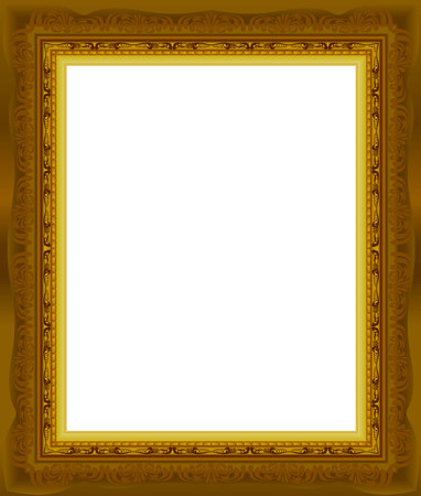 wood frame: wood gold frame picture vector abstract design