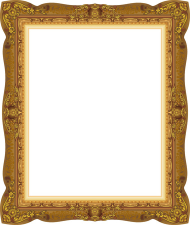 wood gold frame picture vector abstract design