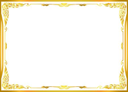 goud fotolijst floral vector voor beeld