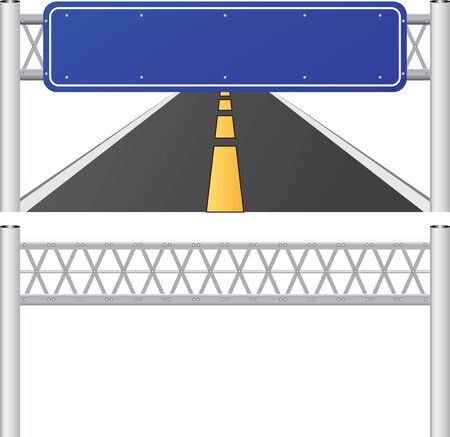 signpost: designer label signposts,blank blue road sign