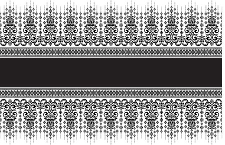 seta thailandese: Art Background, Thai silk art pattern vector for cover design, page design
