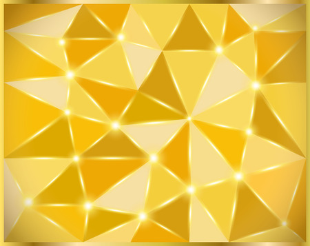 gold background and texture have label with wave.golden pattern thai silk style vector design for text background,