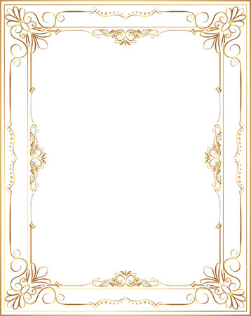 Decorative vintage frame and border set,photo , frame flourishes set of border and corner silhouette, Ornate and scroll frame elements is patterned Thai style Stock Vector - 66069702