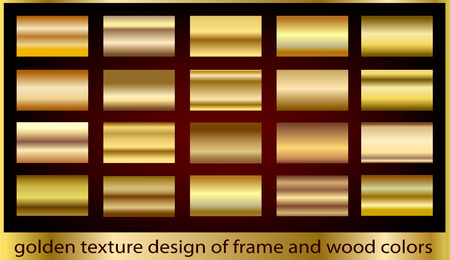 gold metal: Gold metal texture background collection Illustration