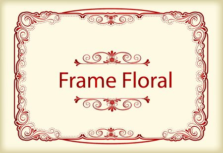 Vintage retro frame certificate background design template
