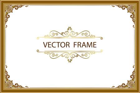 Thai art with Golden border frame