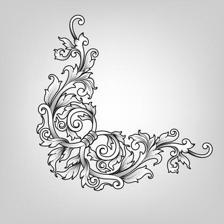 Thai Art, border frame with thailand line floral for picture, Vector design decoration pattern style.frame corner design is pattern
