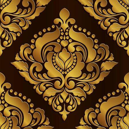 Abstract of golden pattern seamless design Ilustracja