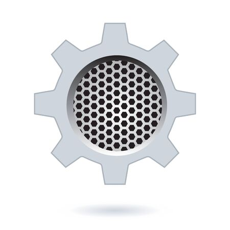 perforated: Perforated Hexagon Design.