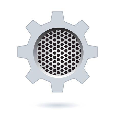Perforated Hexagon Design.