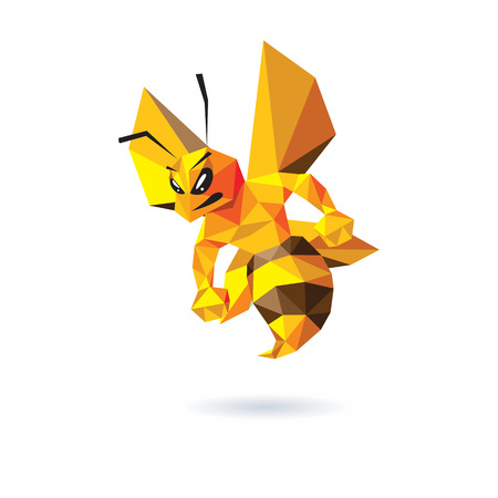 Bee Mascot Design.