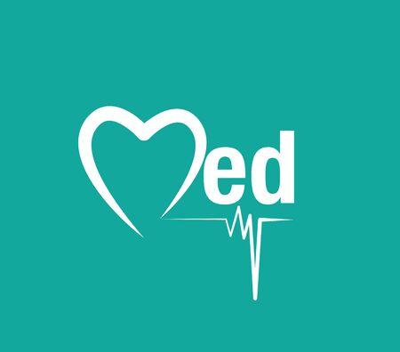 Concepto Logo médica. AI 10 compatible.