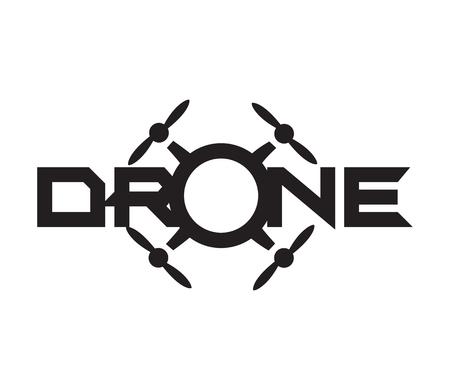 Drone Logo Projekt koncepcyjny. AI 10 Obsługiwane.