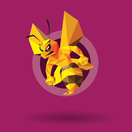 Bee Mascot Design. AI 10 Supported. Vectores