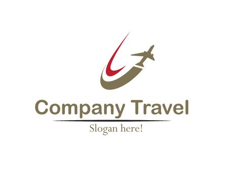 우아한 여행 회사 로고 개념입니다.
