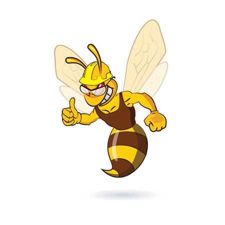 pollinate: Bee Mascot Design. AI 10 Supported. Illustration