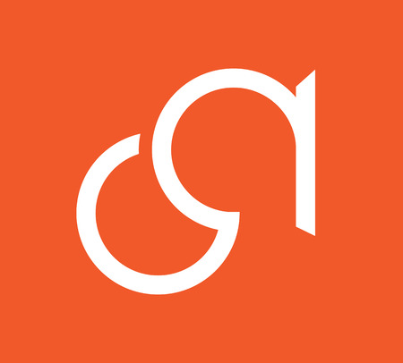 ca: CA Logo Monogram Design. AI 10 supported.