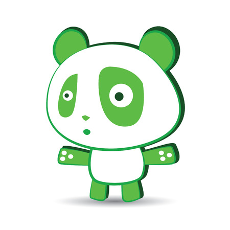cute panda: Cute Panda Character Design Illustration
