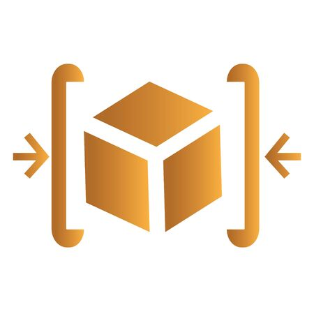 data archiving: Compress Data Icon. AI 8 Supported. Illustration
