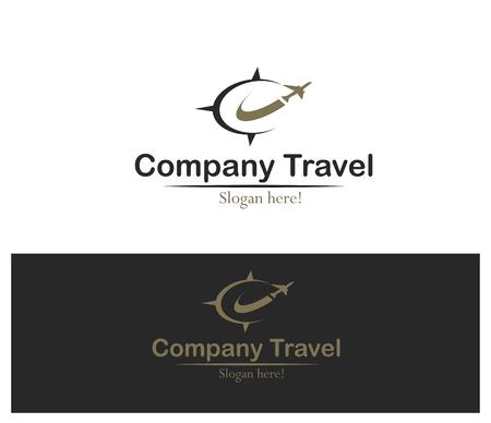 logos de empresas: Logotipo elegante concepto de viajes de empresa.