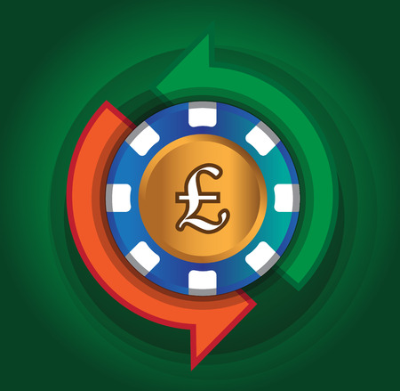 Exchange Pound Design for Casino Concept. AI 10 Supported.