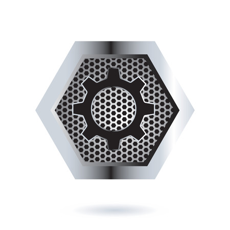 perforated: Perforated Hexagon Design. AI 10 Supported. Illustration
