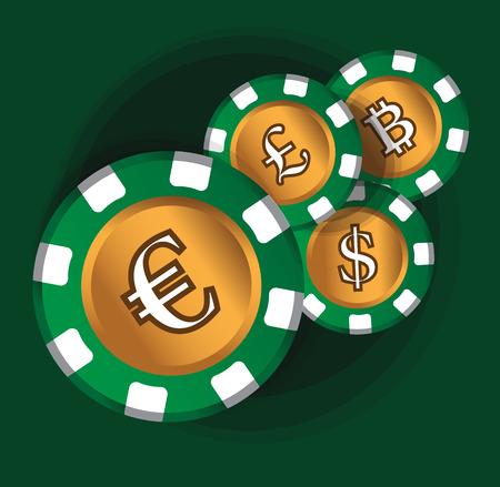 Euro-Coin Theme Design for Casino Concept. AI 10 Supported.