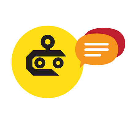 Chat Robot Design Concept. AI 10 Supported.