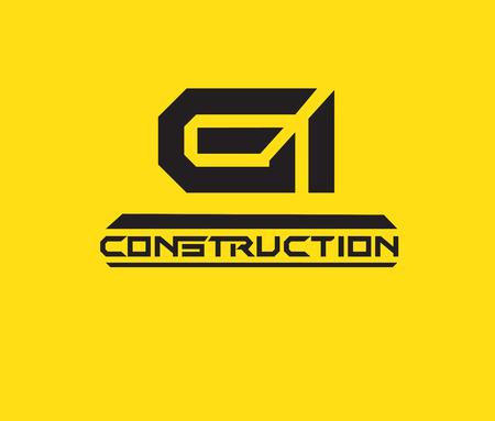 gi: Construction Design Concept. AI 10 supported. Illustration