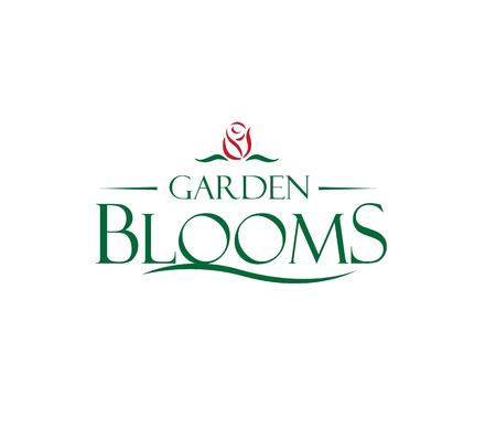 Garden Blooms Logo Concept. AI 10 ondersteund.