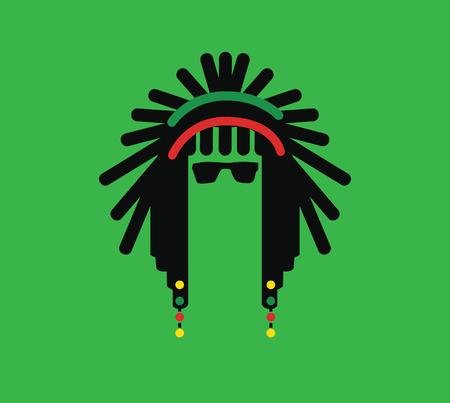 rastas: Reggae Cultura concepto de diseño. AI 10 Sostener.