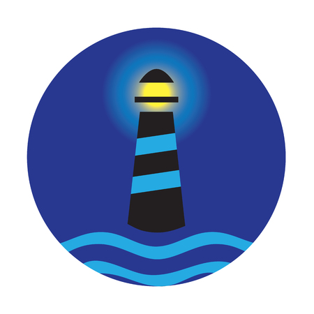 Lighthouse concept design. AI 10 supported Illustration
