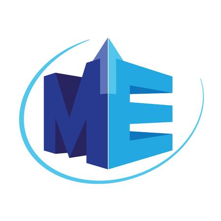 me: Geometric ME Logo Concept. AI 10 supported.