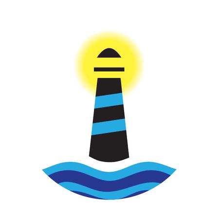 navigating: Lighthouse concept design. AI 10 supported Illustration