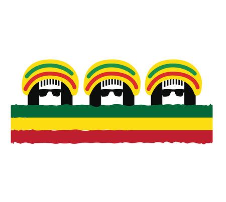 rasta colors: Reggae Culture Concept Design. AI 10 Supported.