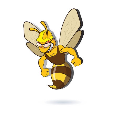 pollinate: Bee Illustration. AI 10 supported